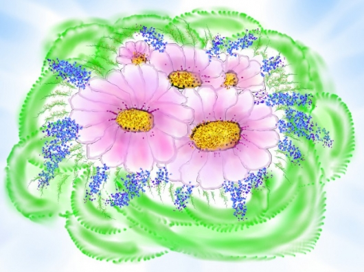 Любимые цветы   Букет для мамы