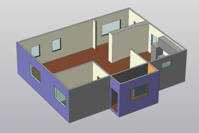 3D план дома