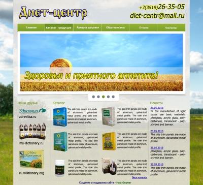 Дизайн страницы Web-сайта | Диет-центр