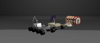3D-модель планетохода для обеспечения выполнения предполагаемых задач пилотируемой миссии на Марсе
