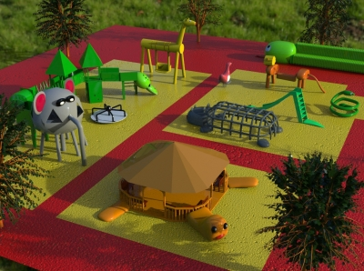 Детская площадка «Жители саванны»