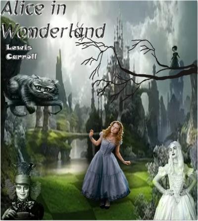 Дизайн обложки для любимой книги | Alice in Wonderland
