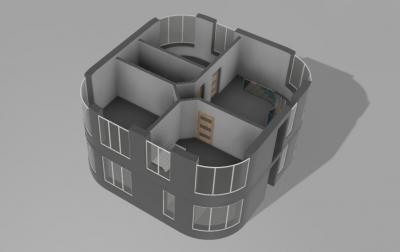 Двухэтажный дом будущего