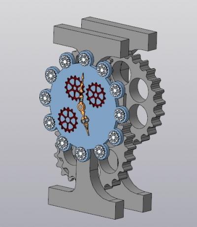 3D модель часов