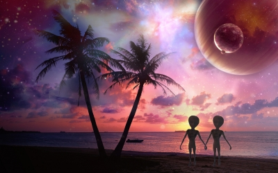 Космос   Любовь двух инопланетян