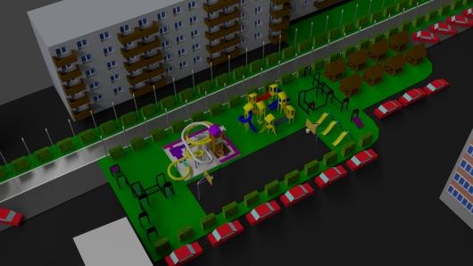 Концепция дворового пространства по улице Советской Армии дома 51