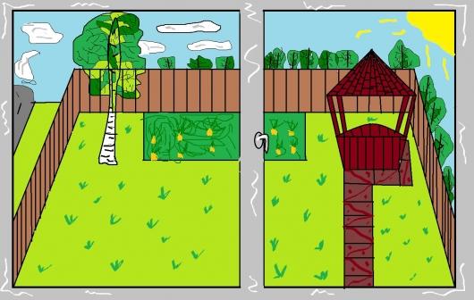 Пейзаж из окна дома, школы, автомобиля