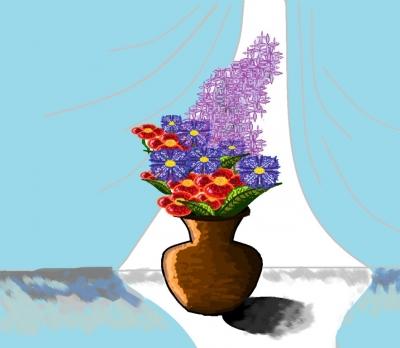 Мои увлечения | Натюрморт с цветами