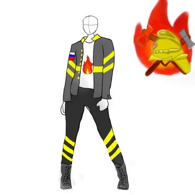 Дизайн проект формы дружины юных пожарных