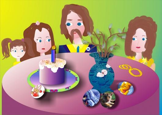 Дружной семьей за пасхальным столом