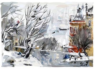 Городской пейзаж | Зимние мотивы