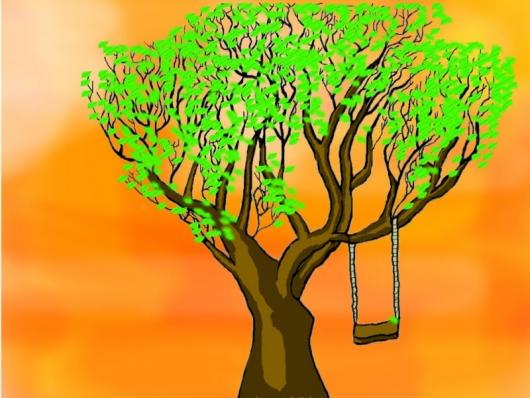 Яркий мир красок   Дерево