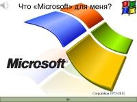 Что Microsoft для меня