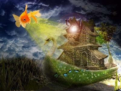 Морской пейзаж | Мечта золотой рыбки