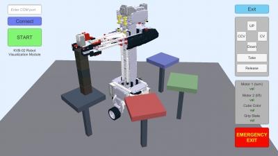 Создание графического приложения и многоуровневой системы управления роботом-манипулятором