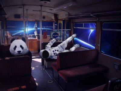 Постер «Космос» | Межгалактический троллейбус