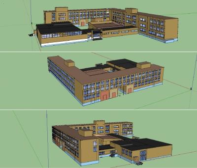 3D модель здания Академического лицея