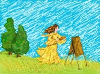 Мое хобби: я рисую лето