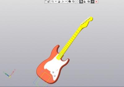 3D Модель электрогитары