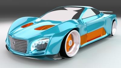3д модель автомобиля
